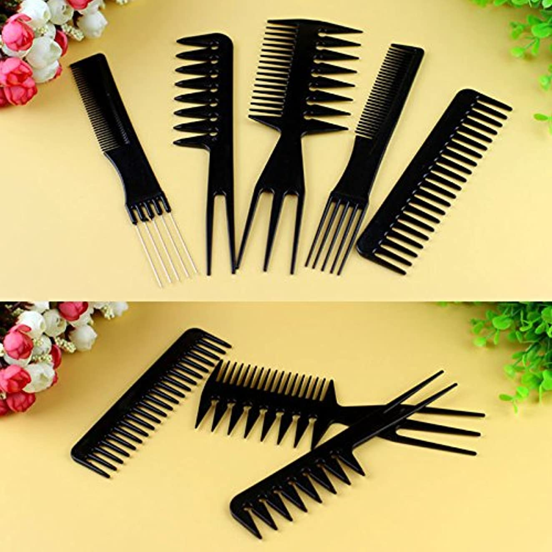 シアー任命する弁護MSmask 10個入りブラックプロサロン ヘアスタイリング理髪 プラスチック理髪店 ブラシコムズセット