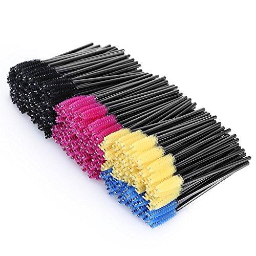 KEDSUM まつげブラシ 使い捨て スクリューブラシ マスカラブラシ まつげコーム メイクブラシ アイメイク 化粧用品 (300本)