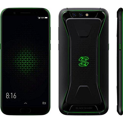 液体冷却ゲーミングスマホ・5.99インチ FHD・後20.0MP +12.0MP + 前20.0MP カメラ搭載★Xiaomi Black Shark ★AI対応 Snapdragon 845 Joy UI(Android 8.0)搭載・4G LTE+4G/3G 同時待受けDSDS対応 英語版・6GB/8GB RAM + 64GB/128GB ROM (RAM 6GB+ROM 64GB, Black)