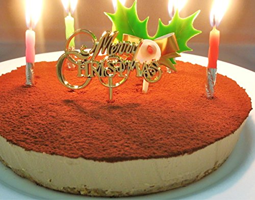 クリスマスケーキ 糖質75%カット 低糖質 生チョコレア チーズケーキ 5号(Xmasプレート・柊ピック・ローソク付)(糖質制限 チョコレートケーキ 砂糖不使用 低糖 スイーツ)