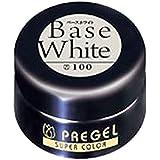 プリジェル スーパーカラーEX ベースホワイト 4g PG-SE100 カラージェル
