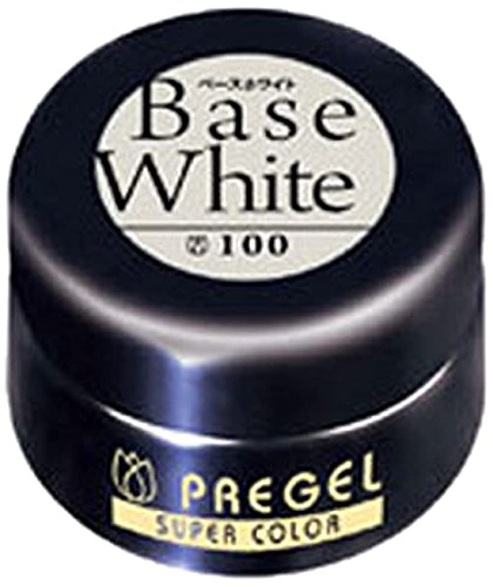 副調子演じるプリジェル スーパーカラーEX ベースホワイト 4g PG-SE100 カラージェル