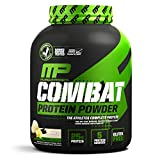 MusclePharm Combat Protein Powder, 5 Protein Blend, Vanilla, 4 Pounds, 54 Servings