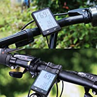 BIGO サイクルコンピュータ ワイヤレス 防水 大きいLCDモニター 見やすい自転車コンピュータ 走行距離計/時間計/速度計