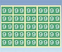 カラーナンバーラベル CNL-L [9] 1袋(25片/枚×10枚入)