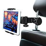 タブレットホルダー 後部座席用 オーディオ用車載ホルダー 自動車後部座席適用 真ん中 調節可能 360度回転式 取り付け便利 4-11インチTablet スマホ用 スタンド iPhone Samsung Galaxy iPad 2 3 4 mini air Galaxy Tab Google Nexusn等対応