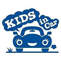 imoninn KIDS in car ステッカー 【シンプル版】 No.25 クルマさん (青色)