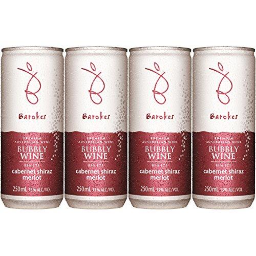 バロークス プレミアム スパークリング 缶ワイン 赤 250ml×4缶