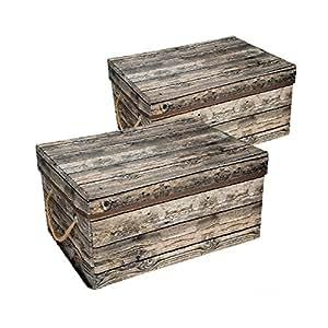 Eggsnow 収納ボックス ふた付き 布 折りたたみ収納ケース 40x30x20cm 2個セット