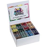 S&S Worldwide Color Splash! Crayons PlusPack - 8 Colors (box of 400) [並行輸入品]