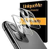 [ 2 Pack] UniqueMe Camera Lens Protector for Apple iPhone 11 Pro/Apple iPhone 11 Pro Max Tempered Glass, Easy Install 9H Hardness HD Clear with Lifetime Replacement Warranty