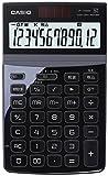 カシオ 電卓 ジャストタイプ 12桁 ブラック JF-Z200BK-N