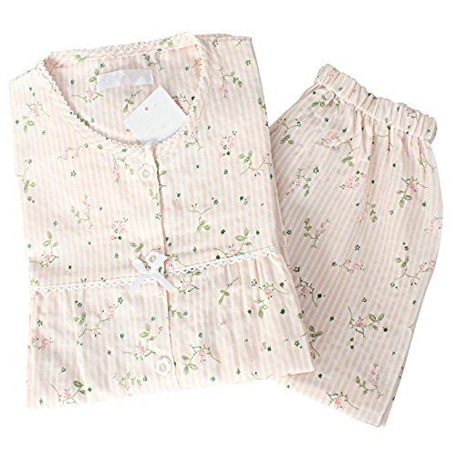 Sasairy レディース パジャマ 綿 半袖 ルームウェア 可愛い 春夏用 誕生日