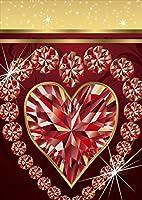 igsticker ポスター ウォールステッカー シール式ステッカー 飾り 841×1189㎜ A0 写真 フォト 壁 インテリア おしゃれ 剥がせる wall sticker poster 005253 ラグジュアリー ハート 宝石 キラキラ