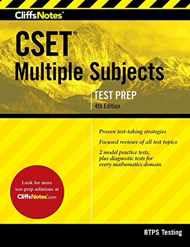 Download CliffsNotes CSET Multiple Subjects 4th Edition 0544651081