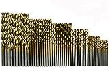 Carennac ドリルビット チタン コーティング 高速度鋼 1/1.5/2/2.5/3/3.5 mm 60本組[カレナック] (ドリルビット60)