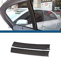 用bmw 5シリーズg30 528li530li540li 2018車のabsプラスチック炭素繊維マットシルバー窓cピラーカバーストリップトリムアクセサリー-carbon fiber