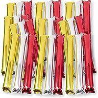 LAPHSODA(ラフソーダ) スティック バルーン メタリック カラー 応援 グッズ 3色 ( 金 銀 赤 ) 各5 ( 全 15 パック) セット