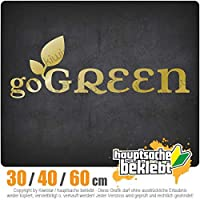 Go green - 3つのサイズで利用できます 15色 - ネオン+クロム! ステッカービニールオートバイ
