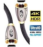 IBRA 10メートル 高速PRO GOLD RED 1.4a HDMIケーブル 3D PS4 2160p 4KウルトラHD (10M/32フィート)