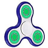 POAO指スピナー ハンドスピナー フォーカス玩具 ボールベアリング グセラミック軸受超耐久性 高速度 (白青緑)