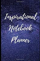 Inspirational Notebook Planner: with stars universe Journal Diary Todo 100 Pages Blank 6x9 Gift