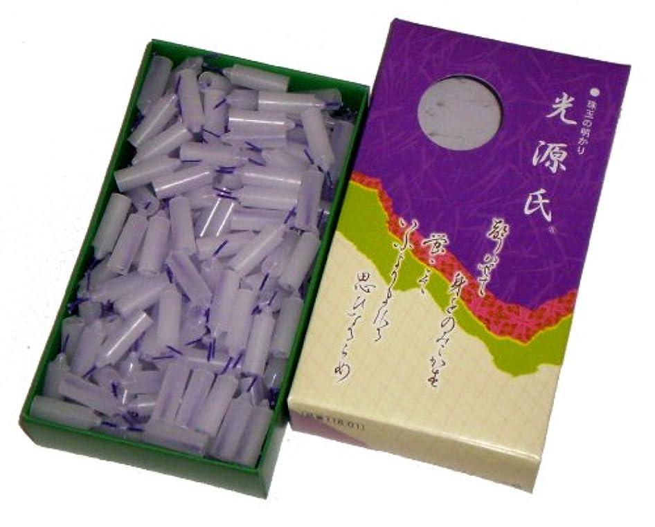 スパイラルむき出しイディオム安全ローソク 東海製蝋のろうそく 光源氏 大箱