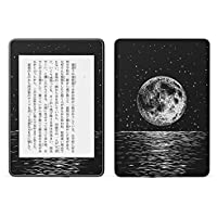 igsticker kindle paperwhite 第4世代 専用スキンシール キンドル ペーパーホワイト タブレット 電子書籍 裏表2枚セット カバー 保護 フィルム ステッカー 016051 月 地球 宇宙 海