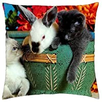 Cute animals - Throw Pillow Cover Case (18 [並行輸入品]