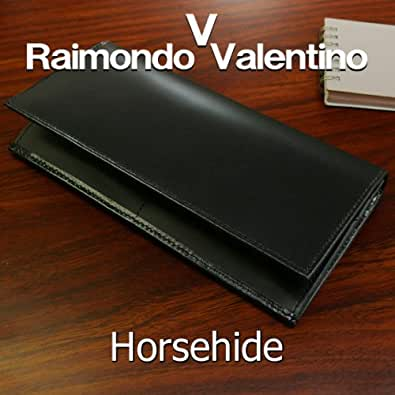 財布 RaimondoValentinoホースハイド 馬革 長財布ブラック