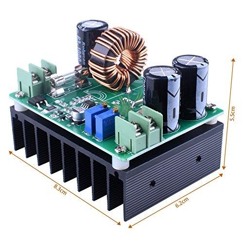 Quimat 高出力 昇圧型 DC-DC コンバータ ブースト 可変 入力12V-60V 出力12V-80V 最大600W  高効率 変換器 資材 部品 QY01