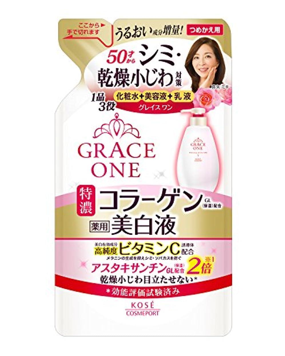 結果として先角度(医薬部外品) KOSE コーセー グレイスワン 薬用美白 濃潤液 詰め替え 200ml