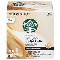 Starbucks Vanilla Caffe Latte K-Cup Pods 9杯分 スターバックスバニラカフェラテKカップポッド [並行輸入品]