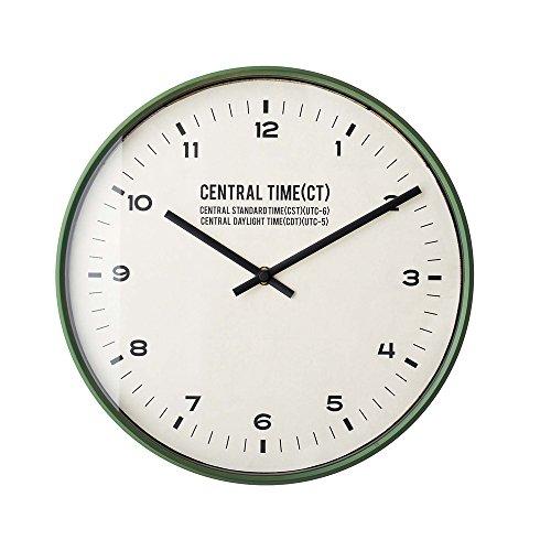 インターフォルム 電波掛け時計 セントラルタイム Central Time グリーン CL-1479GN CL-1479GN