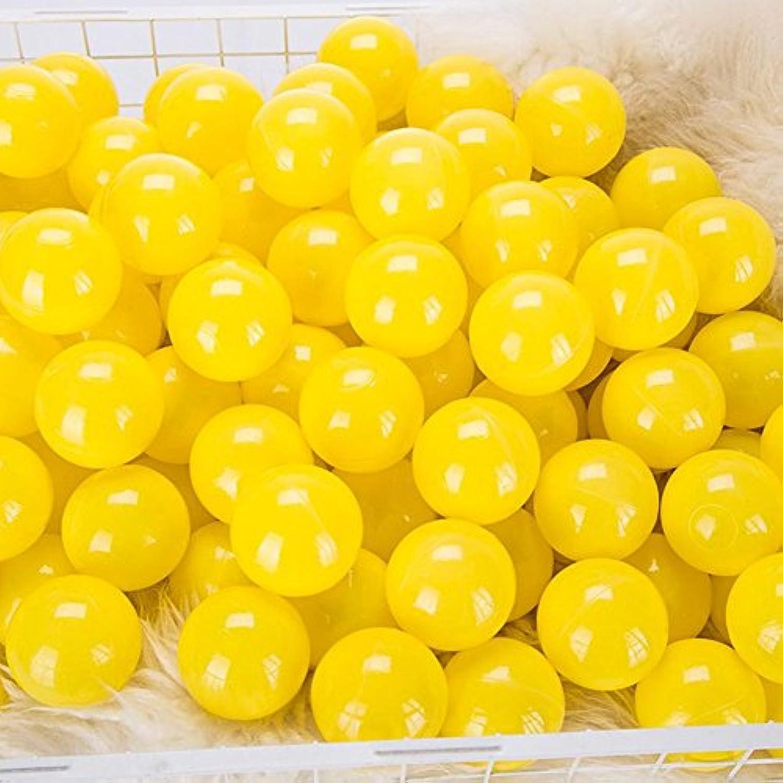 momowu 2.75インチ フタル酸フリー 楽しい 耐クラッシュボール ソフトPEエア充填 オーシャンボール プレイボール ピットボール ベビー キッズ トンネル/テント/プール/スイムジャンプハウス イエロー 100個
