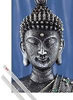 ポスター:仏教ポスター–Buddha Statueブルー( 36x 24インチ) BU033812
