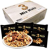 Daily Nuts & Fruits 3种 混合水果 1.05千克 (35克x30袋) 产地原装进口 分袋装箱 无盐 无添加 不使用食物油 (杏仁40% 生核桃40% 腰果20%)