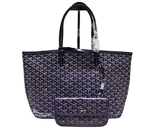GOYARD ゴヤール トートバッグ リバーシブル レディースバッグ 通勤バッグ ポーチ付き 大容量 多色揃い L (紺色)