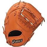 asics(アシックス) 野球 ジュニア軟式用グローブ(ファースト用) ダイブ BGJ6BF Fオレンジ LH