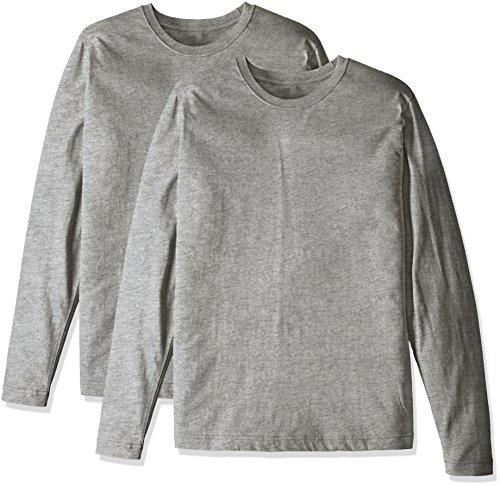 [セシール] アンダーシャツ 綿100% 長袖Tシャツ(2枚組セット) M~5L OTH-297 メンズ グレー L