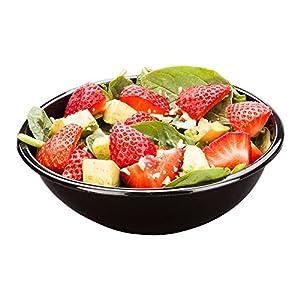 Restaurantware rwp0205b 200CountペットColdサラダボウル Medium/17.6 oz ブラック RWP0205B