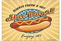 冷蔵庫用マグネット Fridge Magnet Retro Hot dogs