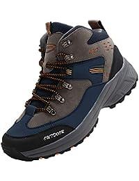 [VITIKE] ハイキングシューズ メンズ トレッキングシューズ 防水 ハイカット 軽 登山靴 防滑 耐磨耗 アウトドア キャンプ シューズ 通気性 スエード 安い スニーカー 大きいサイズ ブーツ ウォーキング 靴