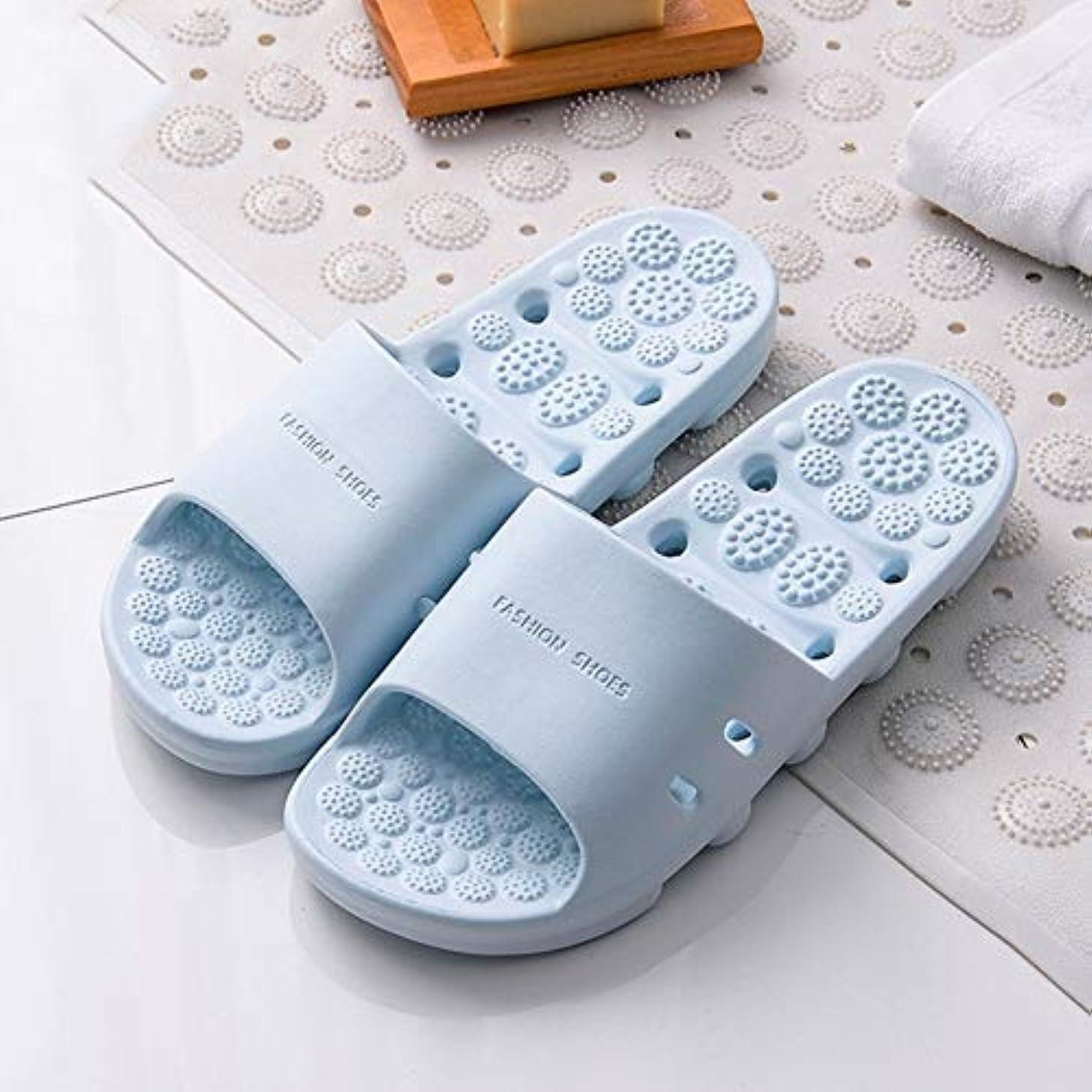 通知膨らませるとらえどころのないマッサージスリッパ厚い底中空速乾性滑り止め足の筋膜炎の足のツボマッサージ健康マッサージの靴夏のバスルームのスリッパ