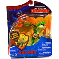 How To Train Your Dragon Movie Deluxe 7 Inch アクションフィギュア Deadly Nadder Green Orange by Spin Master TOY ドール 人形 フィギュア(並行輸入)