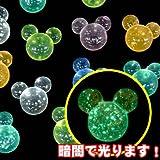 アクリルアイス マウス グロウドット(1kg)【蓄光タイプ】  / お楽しみグッズ(紙風船)付きセット