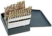 Kodiak Cutting Tools KCT120415 USA Made Jobber Length Drill Set, Heavy Duty, Split Point Style, Cobalt, Straw Finish, 135 Degree, #1-#60 Size Range by Kodiak Cutting Tools