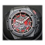 HUBLOT(ウブロ) 世界500本限定 キングパワー レッドデビル マンチェスター メンズ腕時計 48mm 自動巻 ブラック 716.CI.1129.RX.MAN11 [中古]