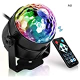 WarrealParty Lights, Halloween Disco Ball Light, Karaoke Xmas Wedding Show Club Lights, Sound Activated with Remote Light Rotating LED Stage Lights