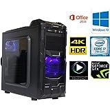 7世代 ゲーミングPC Core i7 7700K 4.20 Ghz/メモリーDDR4 16GB/SSD 240GB/HDD 2TB/GeForce GTX 1050ti (4GB)/B250M GAMING PRO マウス付き/DVDマルチ/Enermaxケース/OS:WINDOWS 10 PRO 64ビット/Office2016/カラーブラック